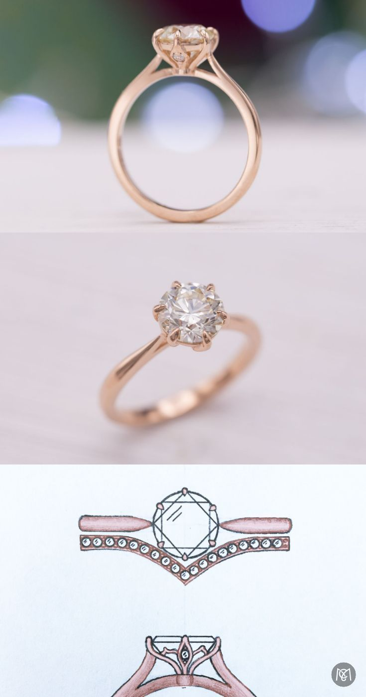 Some Days Nothing Beats The Sweet Simplicity And Elegance Of A Solitaire E Vintage Solitaire Engagement Ring Gold Diamond Wedding Rings Custom Engagement Ring