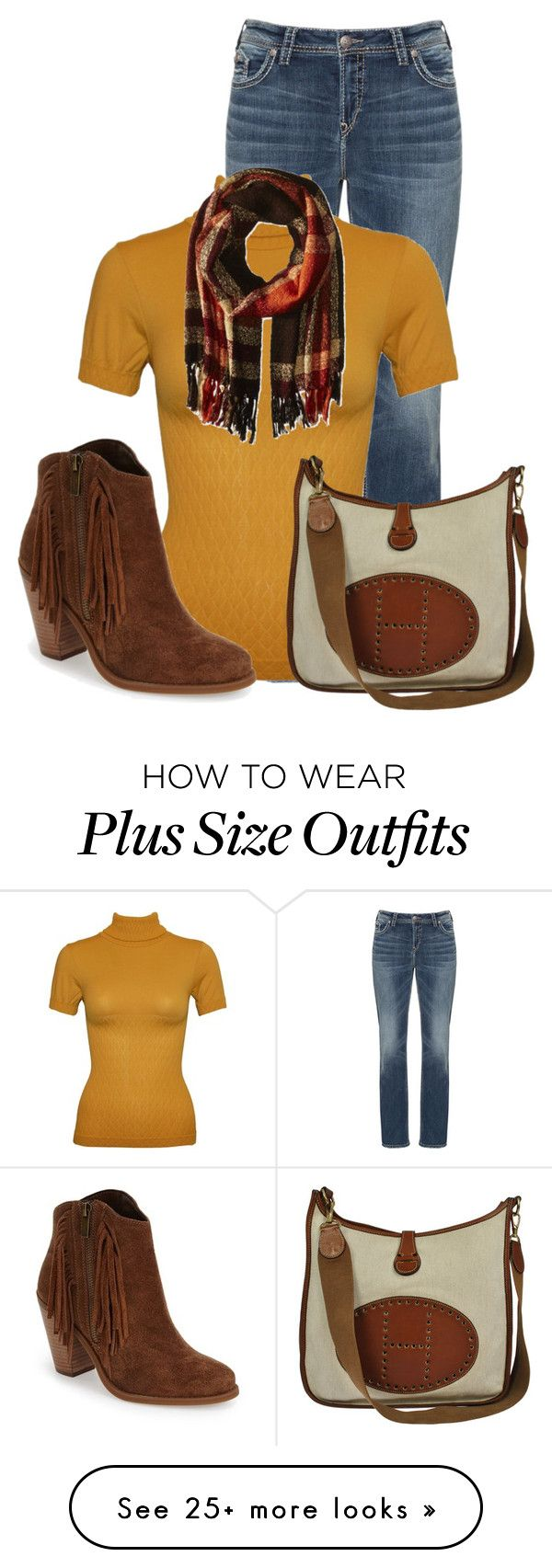 """""""Untitled #13117"""" by nanette-253 on Polyvore featuring Silver Jeans Co., Hermès, Jessica Simpson and Steve Madden"""
