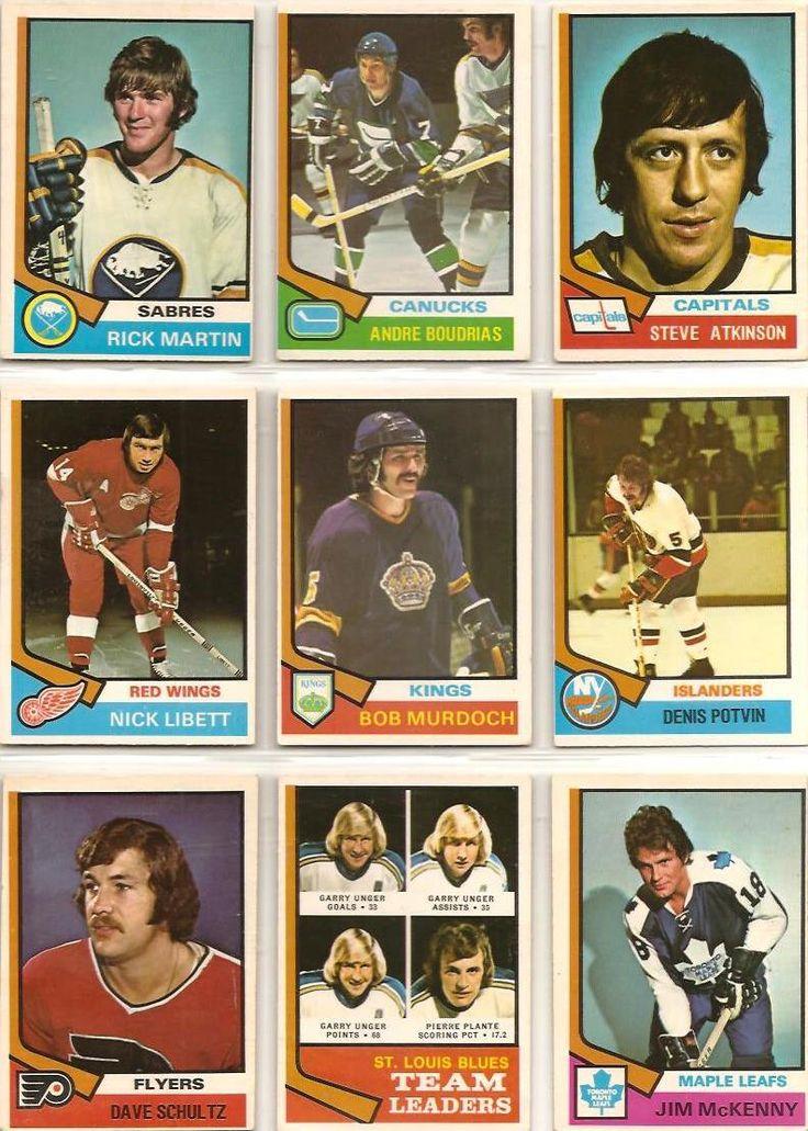 190-198 Rick Martin, Andre Boudrias, Steve Atkinson, Nick Libett, Bob Murdoch…