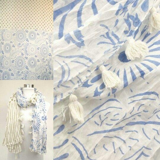 Zomerse sjaal met bloem/stipmotief  http://www.sjaals4you.nl/amorcollections-zomerse-sjaal-met-bloem-stipmotief.html  #Sjaal #mode #katoen #fashion