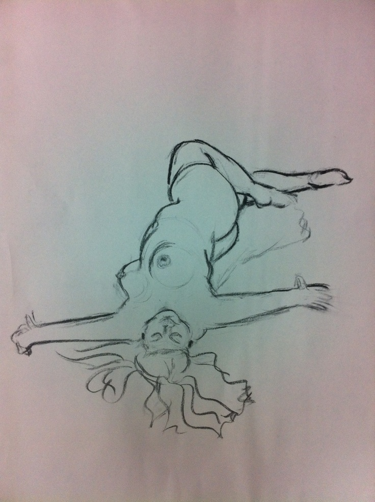 This is my favorite from the life drawing session on Friday.