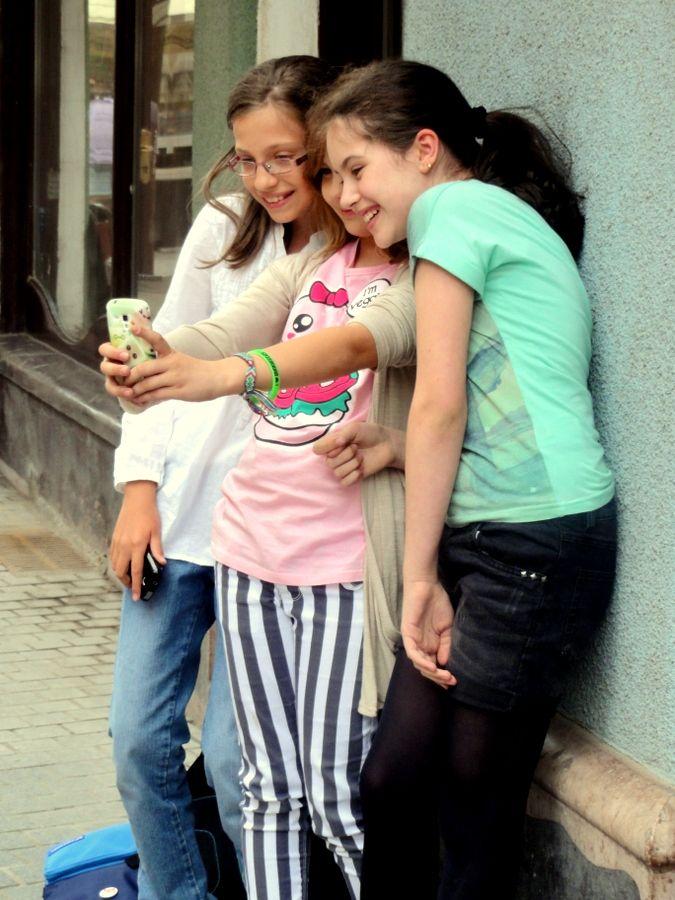 Cute little Romanian girls in Oradea.