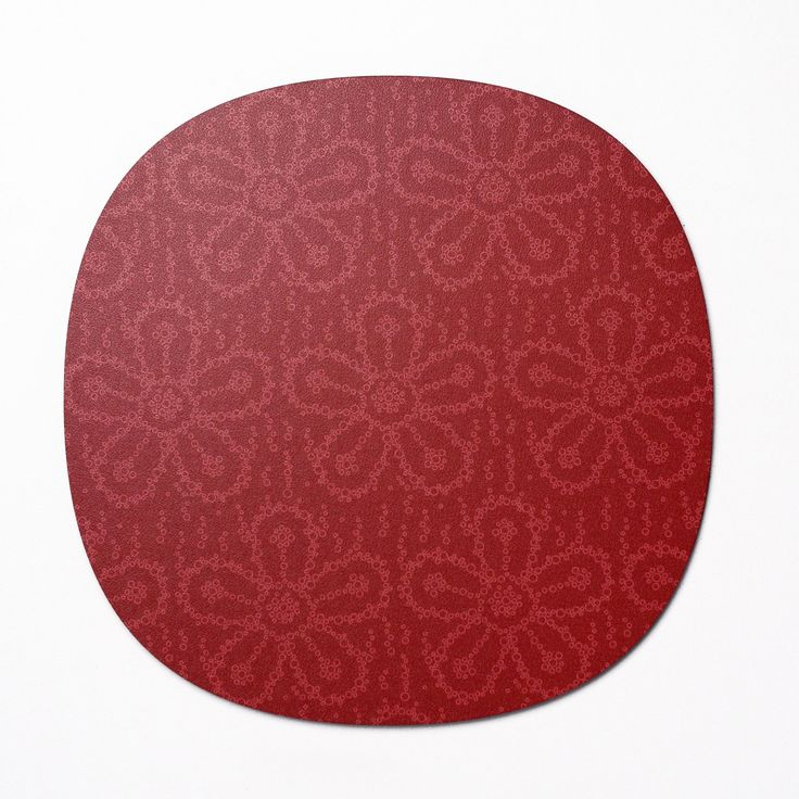 Fizzy Flower - Placemat in 'Cherryade' colour way. Designed and made in Somerset UK