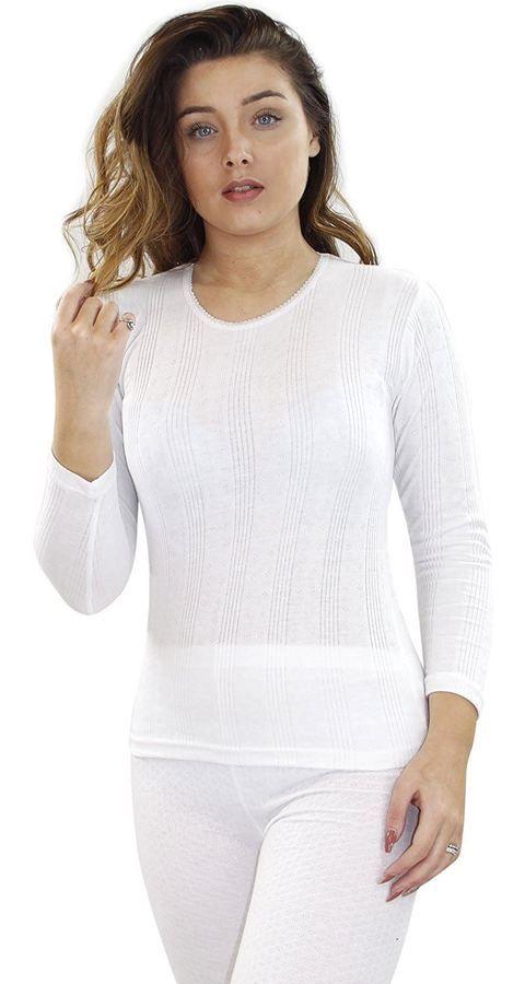 d2ff5d83012 New Ladies Big Size Women Winter Warm Thermal T-shirt Warm Lace Long Sleeve  Top Women Winter Warm