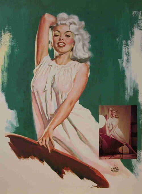 Jayne Mansfield by Earl Moran | prints/POSTERS\paint | Pinterest ...