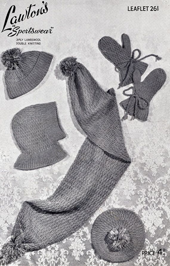 Buttercup Beret Knitting Pattern : 17 Best images about 1930s knitting and crochet on Pinterest Knit patt...