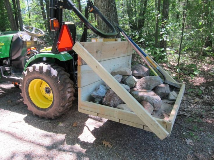 Build Your Own Tractor 3 Point Hitch Carry-all.