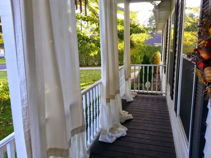 My Front Porch Makeover for Under $100.....with Curtains! ~ Simple Suburban Living
