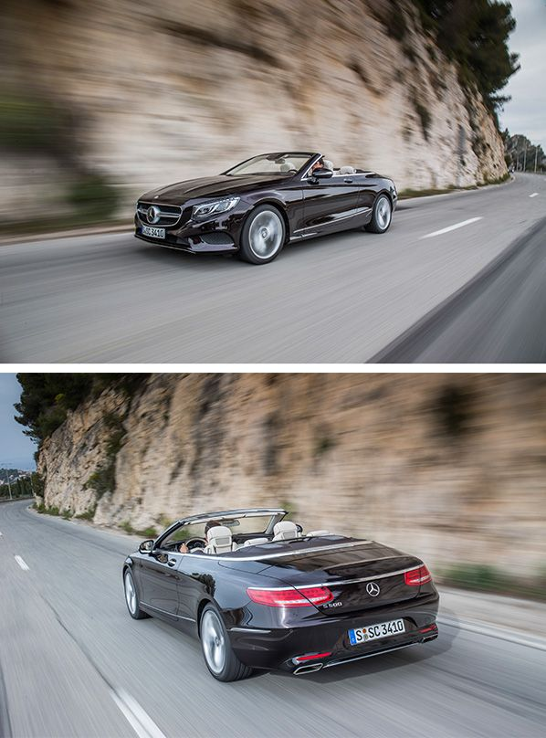 The new Mercedes-Benz S-Class Cabriolet is part of the world's most comfortable convertibles which makes it perfectly fitting for longer journeys. [Combined fuel consumption 9.1–8.5 l/100km | combined CO2 emission 212–199 g/km | http://mb4.me/efficiency_statement]