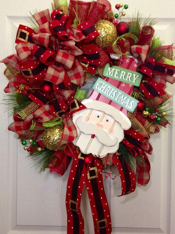 Christmas Mesh Wreath on Etsy, $109.00