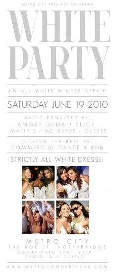 White Party invitation