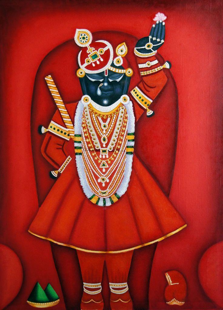 'Shrinathji' - Oil on Canvas - Work in progress