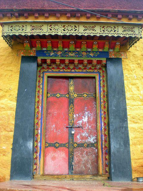 Tibetan doorway... | Flickr - Photo Sharing!