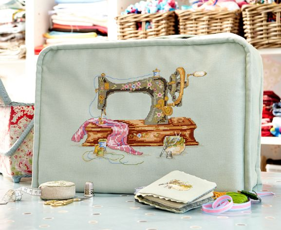 Maria Diaz's Sewing machine pattern from Cross Stitch Collection Magazine Feb 2015
