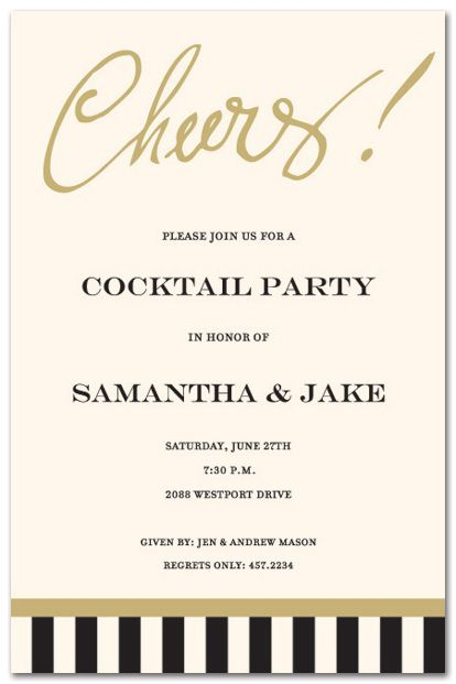 these elegant party invitation features the pre printed word cheers a perfect invitation for a engagement party cocktail party dinner party or wine - Engagement Party Invite