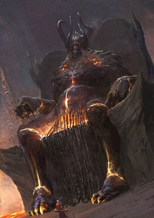 """meanwhilebackinthedungeon:— xiaodi jin""""It has long been whispered, down through the many ages of man, that those who governed the Black Iron Empire of our Legendary Prehistory were the Daemon Princes now worshiped by Chaos Cults as """"The Old Ones.""""  — excerpt from Otiluke's Historia"""