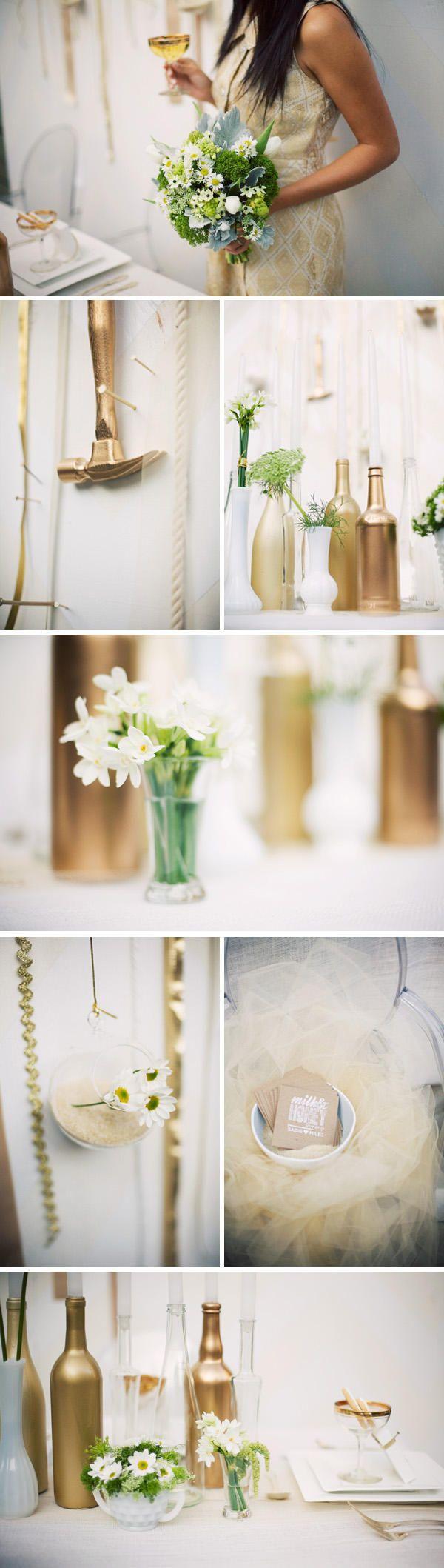 176 best Glitter & gold weddings images on Pinterest   Gold weddings ...