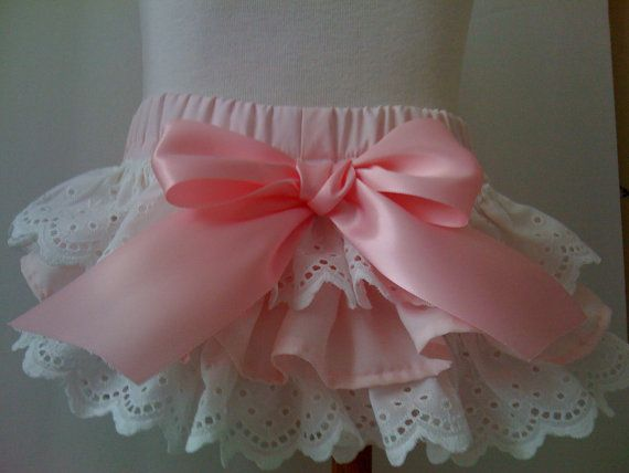 Childrens Clothing Ruffled bloomers Ballet Pink by NanaJustbananas, $25.00