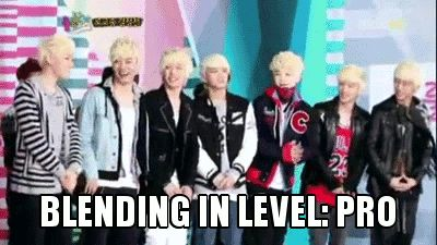Omo! That's Onew with BAP?! Took me forever to figure out this gif lol<-- I guess it's not Onew.-.