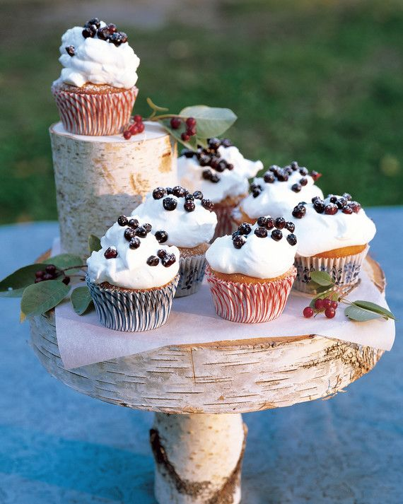 Huckleberries are a Montana summer staple and a perfect topping for sweet cream-covered cupcakes.