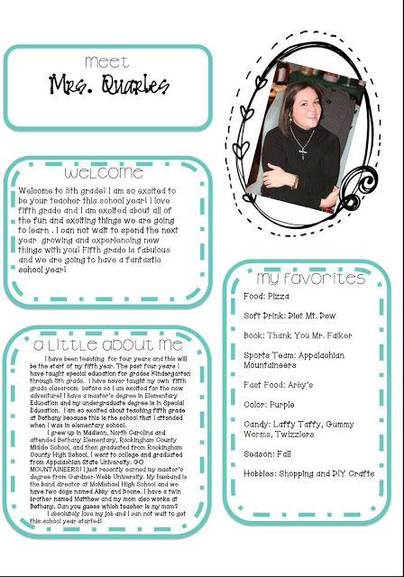 free meet the teacher template - best 25 meet the teacher ideas on pinterest open house