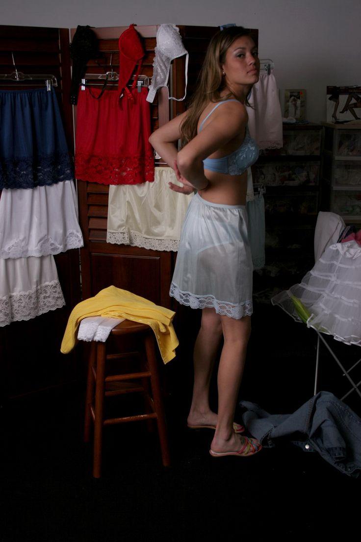 Erotic petticoat and slip stories