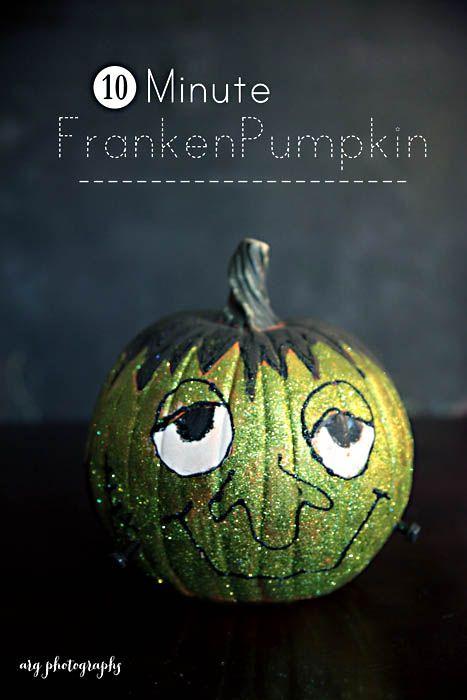 Easy pumpkin decorating craft for halloween | arg photographs