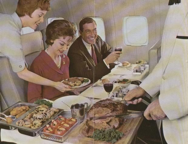 Table-side Meat Carving.   Things We No Longer See on Airplanes
