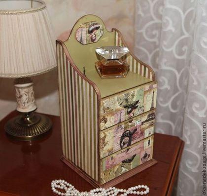 """Мини комод """"Парижский шарм"""" - розовый,комод,мини-комодик,комодик,комодик для украшений"""