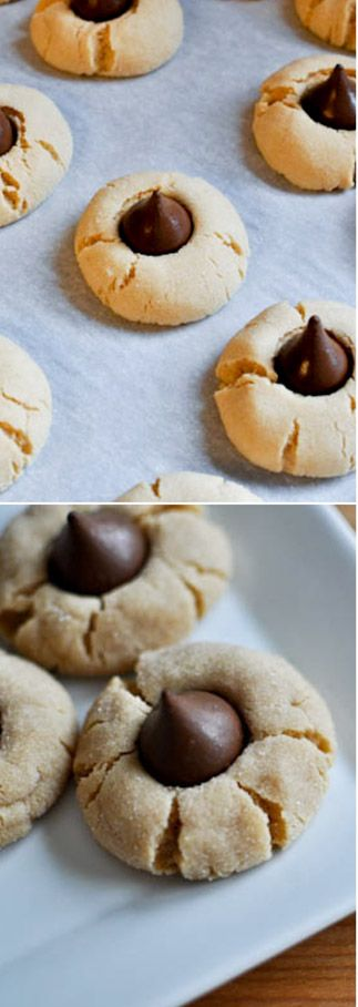 the perfect peanut butter blossom! favorite cookie of the season. I howsweeteats.com