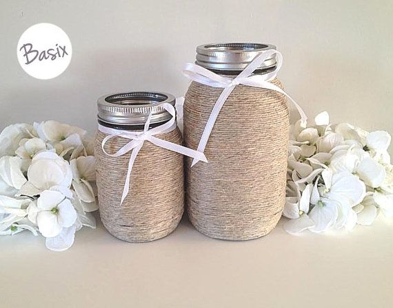 mason jars housewares wedding decor wedding gift desk organizer