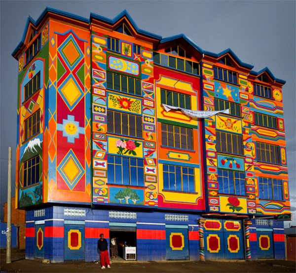 Colorful Buildings: A Colorful Building In Bolivia
