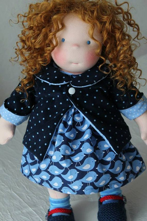 16 custom Waldorf doll by NorthCoastDolls on Etsy