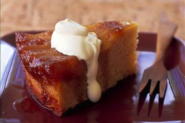 This moist upside-down cake is the perfect accompaniment for a cuppa.