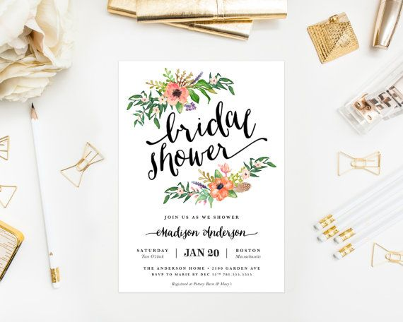 Printable Sweetest Day Bridal Shower Invitation by fineanddandypaperie