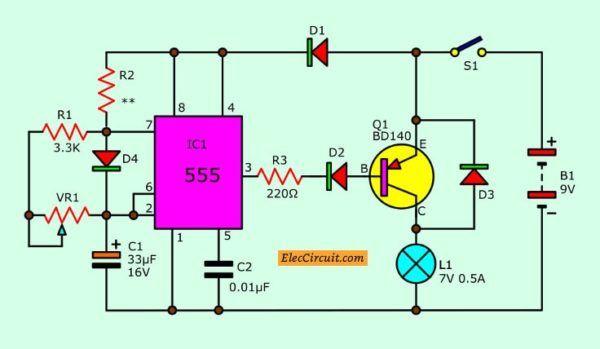 Power Battery Saver Circuit Com Imagens Por Do Sol