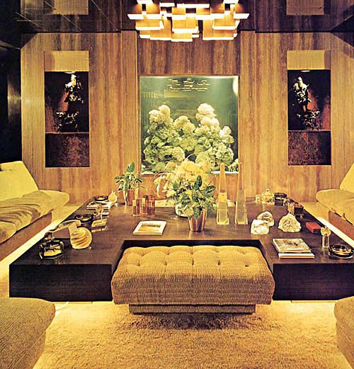 GROOVY ANT '70s, danismm: 1970s Interior Design. Some MCM influence but clearly transitioning.