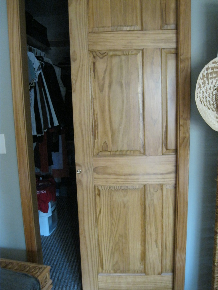 6 Panel Solid Wood Closet Pocket Doors Wood Storage