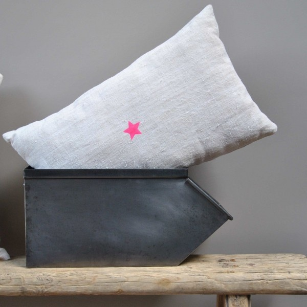pink star linen cushion, The Mark of Weasels