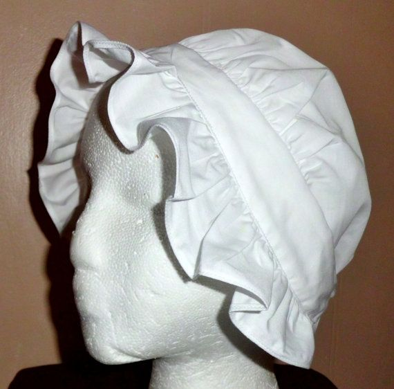 colonial hat template - colonial hat round eared cap bonnet women 39 s and girls sizes