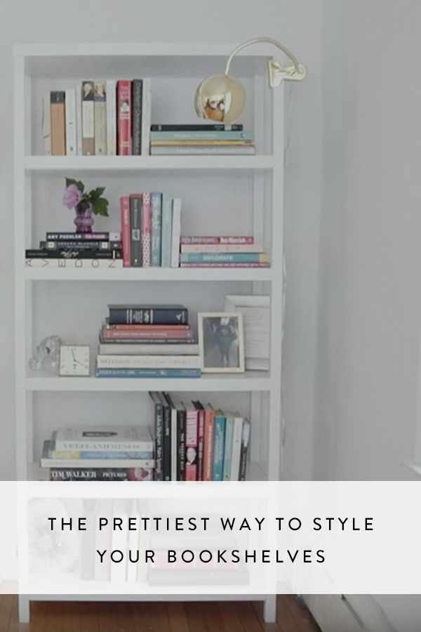 Watch the trick to organizing your bookshelf and add a little polish to your living room.