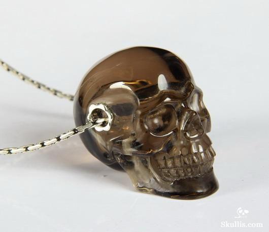 Skulls 196 pinterest smokeysmoky quartz rock crystal crystal skull pendant mozeypictures Images