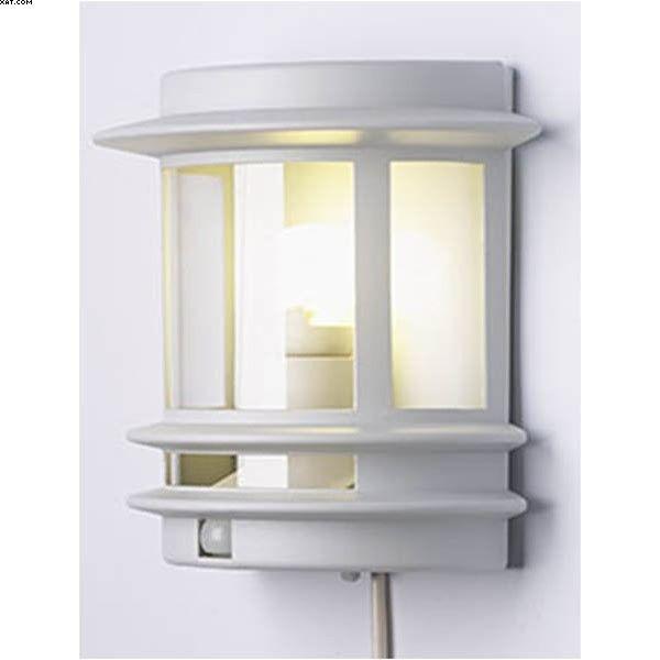 Applique extérieure une lumière avec détecteur de mouvement - finition fonte d'aluminium  Luminaire moderne aux allures marines.  Idéal pour un éclairage performant adapté aux milieux naturels.