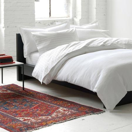 textured white duvet from Unison