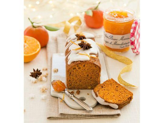 Pain d'épices à la confiture oranges et mandarines Bonne maman