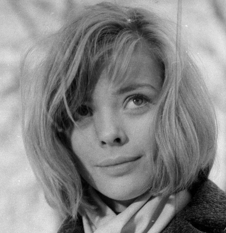 """Barbara Kwiatkowska- Lass on the set of """"Miłość dwudziestolatków"""" dir. by Andrzej Wajda. Photo by Tadeusz Kubiak, 1962."""