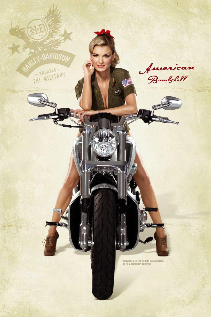 Classic Pin UPS Motorcycle Harley Davidson Pinup Photography #pinup