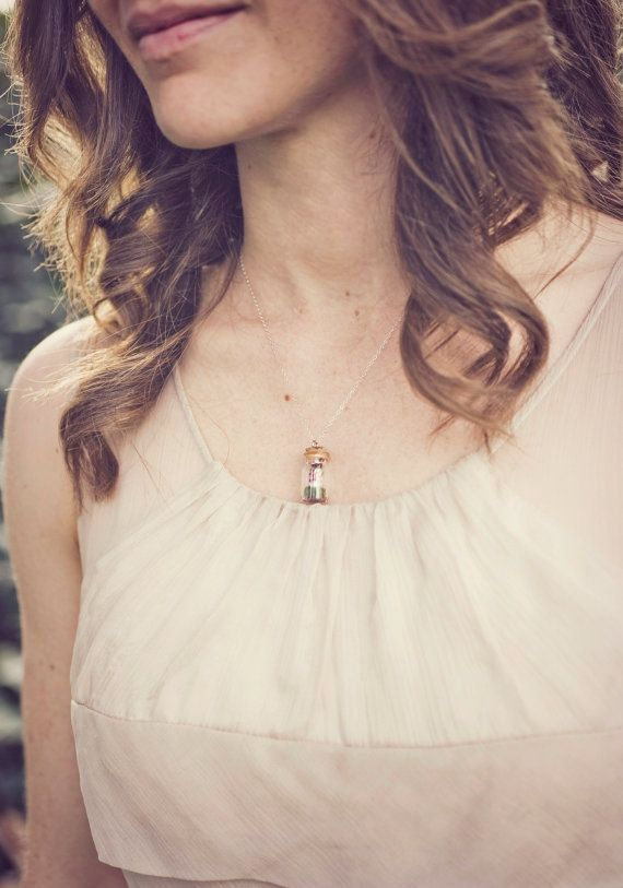 Anthro's Drifting By Dress + Tiny Woodland Terrarium Necklace by Woodland Belle