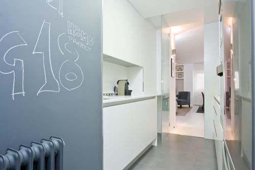 Aplicaci n de la pintura de pizarra en una cocina we - Pizarra de pared ikea ...