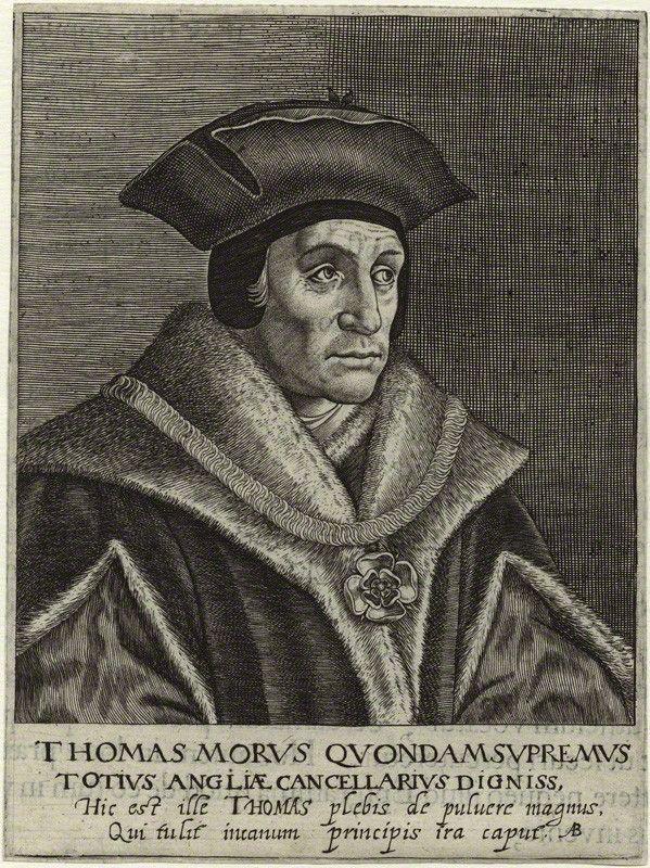 Tommaso Moro, incisione di  Magdalena de Passe o Willem de Passe, 1620